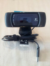 Logitech C910 1080P HD Pro USB Webcam Camera Great Mic! Zoom Skype V-U0017 EUC