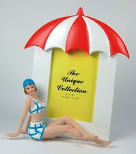 Seaside Swimsuit Lady Figurine Photo Frame