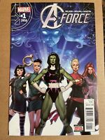 A-FORCE #1 (2016) ONGOING SERIES, G WILLOW WILSON, JORGE MOLINA, MARVEL, VF/NM