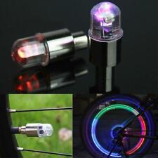 4 LED Wheels Tire Air Valve Stem Caps Colorful Neon Light For Car Motor Bike US