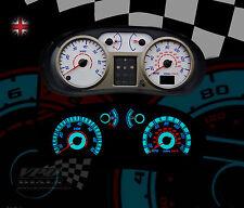 RENAULT CLIO MK2 / 3 140 mph bianco PLASMA Dial KIT Speedo DASH Lighting Upgrade
