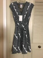 NEW WITH TAG Yoana Baraschi ladies black and white cap sleeve dress. Size XS