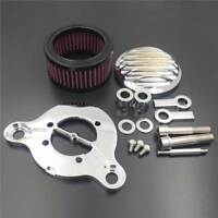Chrome Air Cleaner Kit Filter System For 2004-2014 Harley Sportstar xl883 xl1200