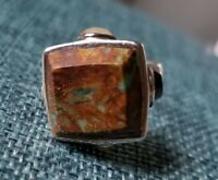 BARSE STERLING SILVER RING W/LARGE TURQUOISE STONE SIZE 7