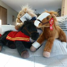 Lot of 3 Plush Wells Fargo ponies  2012 Mack, 2015 Nellie, 2016 Mike Fr. ship  G