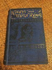 Nights With Uncle Remus Joel Chandler Harris Vintage Book 1883 Osgood & Co