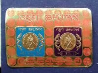 Bhutan 1972 Jigme Wangchuk gold foil miniature sheet Buddhist silk prayer banner