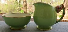 Royal Winton Green Tiger Lily Creamer and Sugar Bowl Set England