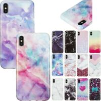 Marble Pattern Soft Silicone TPU Back Case Cover For iPhone X XR Xs Max 7 8 Plus