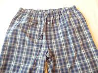 Vintage Stafford Lounge Sleep Pants Blue Plaid Men's Size Large100% Cotton