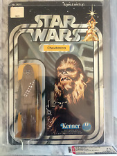Vintage Star Wars 12 Back-A Chewbacca AFA 75 Unpunched (SKU on stand)