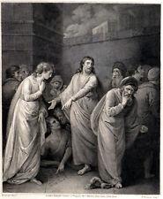 WOMAN ACCUSED OF ADULTERY 1794 P. Thomson - William Artaud  ANTIQUE ETCHING