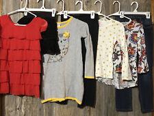 Girls  Fall/winter Lot Long Sleeve Jeans Pants Skirt Short Sleeve size M 7-8 8