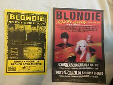 Blondie 7 tour program poster sheets