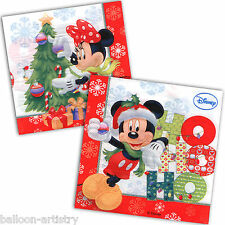 20 Red Disney Mickey Minnie Mouse Christmas Party 33cm Paper Napkins
