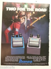 retro magazine advert 1985 IBANEZ two for the road