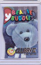 1999 TY BEANIE S3 GOLD CARD INSERT CLUBBY THE BEAR II BUDDIES SIDE #9991