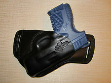 XDS 3.3 9mm & 45 CAL. LEATHER,SOB,OWB BELT HOLSTER, RIGHT HAND,ULTRA SLIM DESIGN