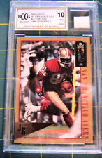 Jerry Rice 1995 Classic #92 Game Used Beckett Graded 10