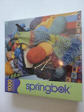 Springbok Puzzle {1000 Piece} Yarn Basket & Knitting