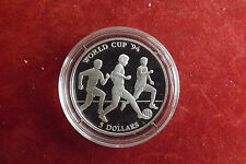 *Cook Island 5 Dollars 1991 Silber PP* Fußball WM 1994 (Schub 7)
