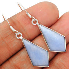 Angelite 925 Sterling Silver Earrings Jewelry ANGE97