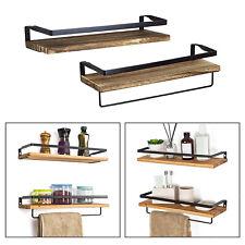 Wall Storage Shelves Set of 2 Floating Shelf Decorative Display Rack Shelf