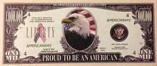 $1 MILLION Novelty Bill-Eagle Face - Proud to be an American - Prosperity (5)
