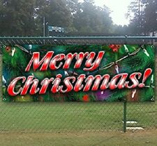 Merry Christmas 16oz heavy duty vinyl banner with 4 grommets