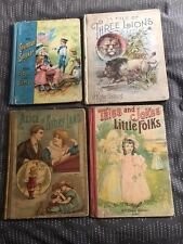 4 old Books-Three Lions; Columbian Speaker; Alice in Story Land; Tales and Jokes