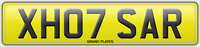XH07 SAR REGISTRATION SARAH NUMBER PLATE X HOT SARA UK REG ASSIGNED 4U SARAH'S