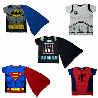 Boys Disney & Marvel Superhero Action Movie Novelty T-Shirts