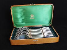 Antique Russian Imperial Silver Set of 12 Spoons by Ovchinnikov~ in Original Box