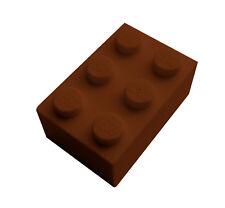 Neu 3003 reddish brown Lego 50 Stück Stein 2x2 in braun Baiscs braune Steine