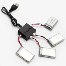US 3.7V 4 in 1 Lipo Battery USB Charger Adapter for SYMA X5C  Hubsan H107D New