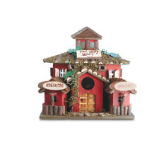 Wow Winery Birdhouse Detailed Wood Doors Hand Painted Very Detailed Accent