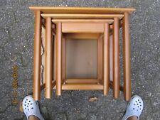Beistelltische 3er Set, Massivholz, ineinander schieben, im Block tragbar