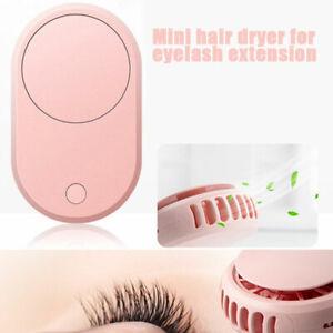 Lash Fan Dryer Mini Eyelash USB Blower Lash Portable Rechargeable Cooling Fan
