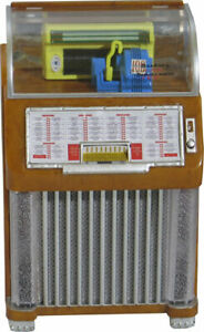 JUKEBOX MINIATURE COLLECTIBLE REPLICA SEEBURG M100C 1952 LIGHTS AND PLAYS HALEY