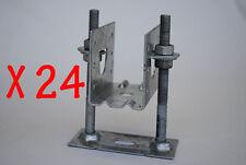 KlevaKlip Adjustable Joist Support Hanger Bracket. Box of 24 Brackets (45mm)