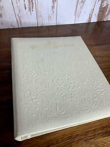 "Vintage Hallmark Album  ""OUR WEDDING KEEPSAKE""  Embossed Ivory Doves Heart"