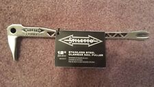 Stiletto SSCLW12-2 12-Inch Stainless Steel Clawbar Nail Puller has a Dimpler new