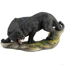 "Prowling Black Panther Figurine Miniature Statue 13.5""L New in Box"