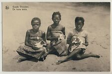 Africa CHILDREN & PUPPIES / KINDER & WELPEN Mission * Vintage 1920s Ethnic PC