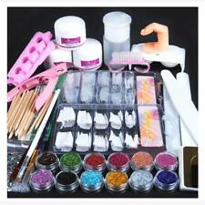 Pro Acrylic Powder Glitter Nail Brush False Finger Pump Nail Art Tools Kit Set