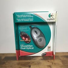 New Logitech Mouseman Dual Optical Mouse In Sealed Factory Box USB Very Rare
