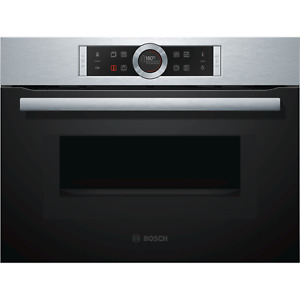 Bosch Serie 8 Built-In Compact Single Oven and Microwave - Stainless Steel