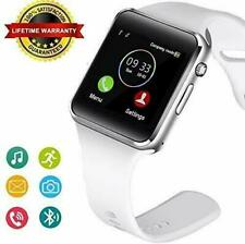 WHITE Bluetooth Smart Watch & Phone with Camera For iPhone Samsung LG HTC Huawei