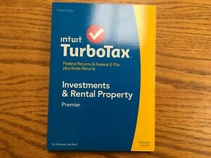 Intuit TurboTax Premier2014 Federal & State Returns Investment & Rental Property