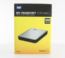 WD My Passport for Mac External Hard Drive 500GB - Silver (WDBLUZ5000ASL-EESN)